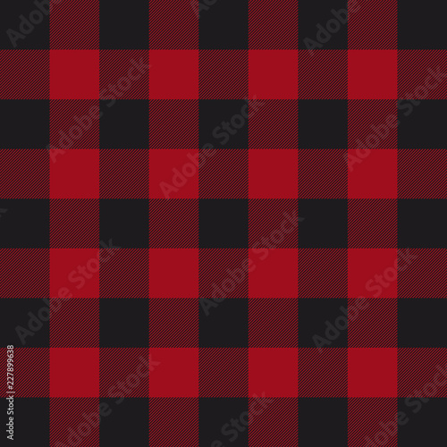 Papiers peints Buffalo Lumberjack plaid pattern. Red and black lumberjack.