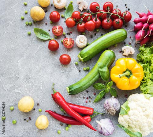 Fotobehang Set of vegetables