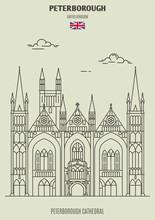 Peterborough Cathedral In Peterborough, UK. Landmark Icon