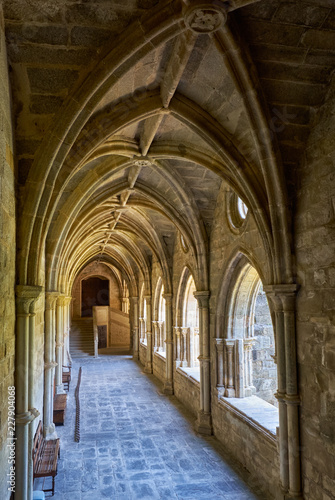 In de dag Historisch mon. The interior of cloister of Cathedral (Se) of Evora. Portugal