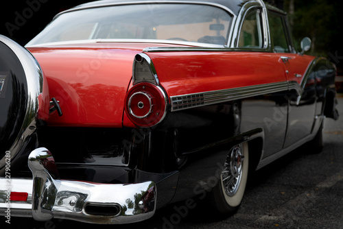 Fotografie, Obraz  Rear view of a classic american car from the fifties