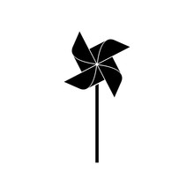 Pinwheel Icon, Logo On White B...