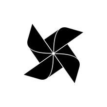 Pinwheel Icon, Logo On White Background