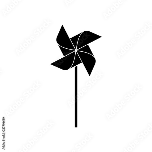 Valokuva Pinwheel icon, logo on white background