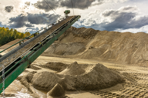 Extraction, treatment and sale of all types of natural and artificial sand Canvas Print