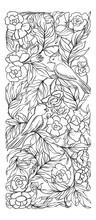 Floral Pattern In Art Nouveau Style, Vintage, Old, Retro Style.