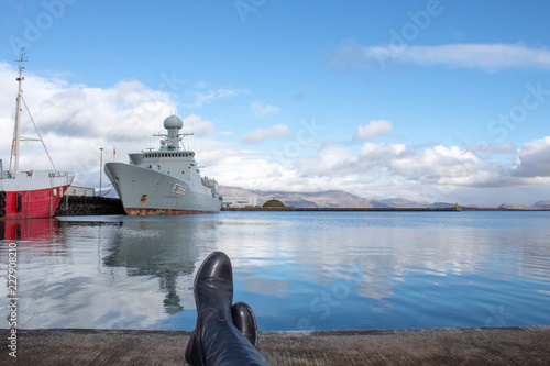 Canvas boots, battleships and reflections