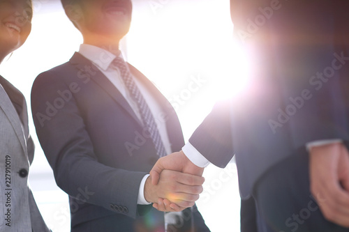 Fototapeta image of handshake of business partners. obraz