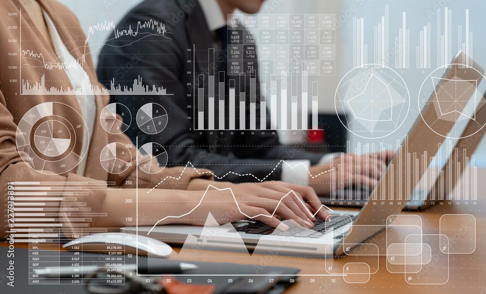 Fototapeta ビジネスと統計