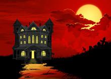 Halloween Background. Haunted ...