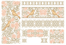 Floral Pattern In Art Nouveau ...