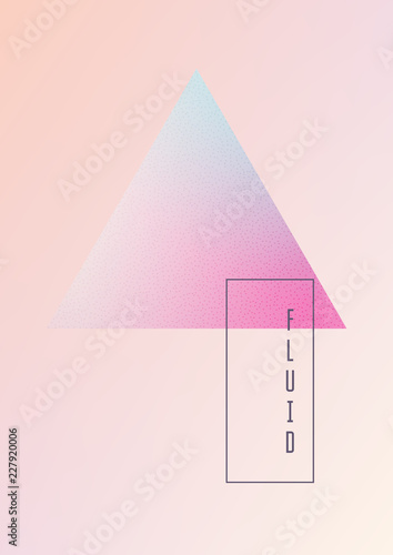 Fluid poster with triangle shapes  Gradient triangles on holographic