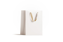 Blank White Paper Gift Bag Wit...