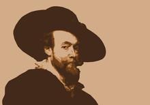 Portrait De Rubens, Célèbre Peintre Flamand Hollandais.