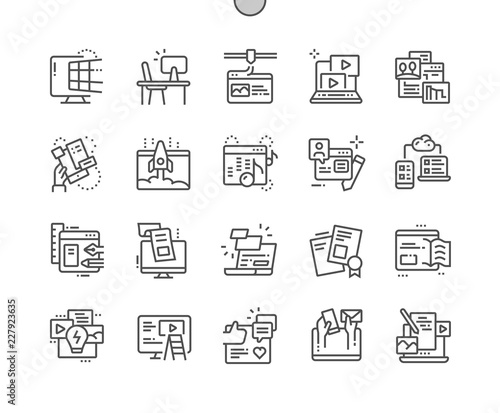 Photo  Web Content Well-crafted Pixel Perfect Vector Thin Line Icons 30 2x Grid for Web Graphics and Apps