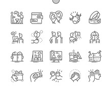 Friendship Well-crafted Pixel Perfect Vector Thin Line Icons 30 2x Grid For Web Graphics And Apps. Simple Minimal Pictogram