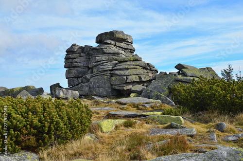 Fotografie, Obraz  Dívčí kameny (Mädelsteine) im Riesengebirge