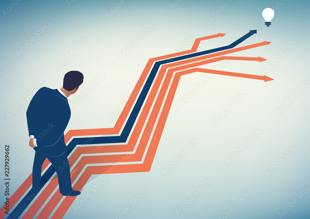 Fototapety, obrazy: Options. Searching for the right way. Business vector concept illustration