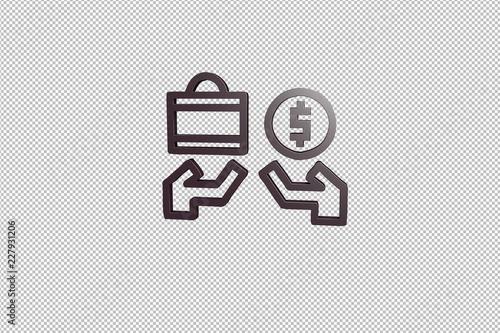 Fotografía  Illustration of Sell on transparent background