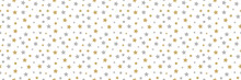 Seamless Texture With Hand Drawn Stars. Vector.