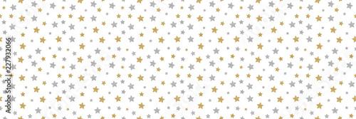 Obraz Seamless texture with hand drawn stars. Vector. - fototapety do salonu