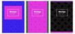 Dark Multicolor vector pattern for magazines.