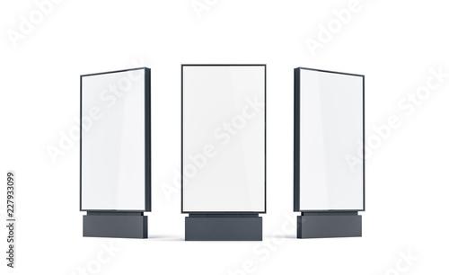 Fotografía  Blank white pylon mock up set, isolated, 3d rendering