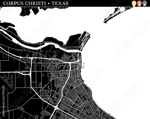Simple Map Of Corpus Christi Texas Buy This Stock Vector And