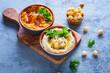 different hummus bowls