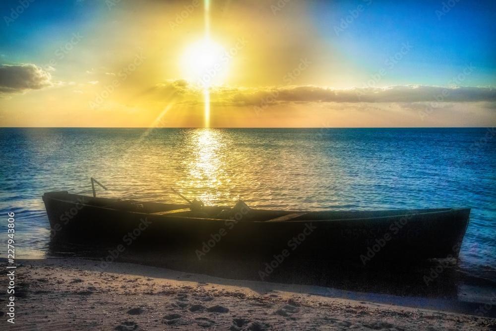 Fotografija  Sunset in the Caribbean Sea, Tunas de Zaza