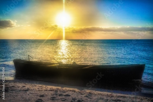 Fotomural  Sunset in the Caribbean Sea, Tunas de Zaza