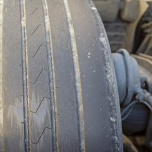 Worn Out Tire Of Heavy Vehicle...