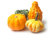 Closeup Of Colorful Gourds For...