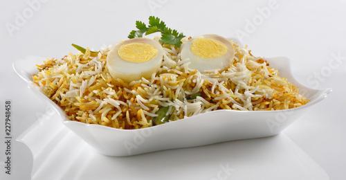 Delicious and spicy Egg Biryani