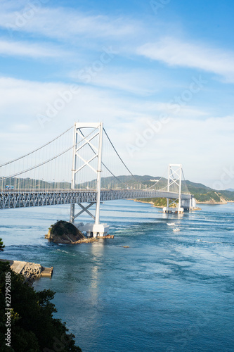 Photo  Onaruto bridge and Seto Inland Sea