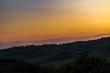 Paesaggio rurale marchigiano al tramonto