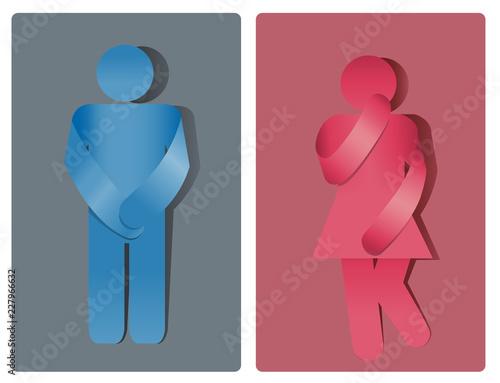 Simbolo Toilette Bagno Uomo E Donna Incontinenza Urinaria Buy