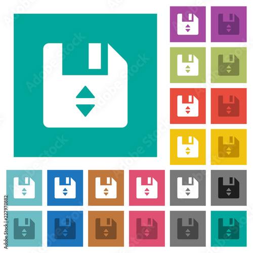 Fotografía  File position square flat multi colored icons