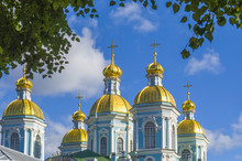 Golden Domes Of St. Nicholas C...