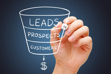 Sales Funnel Marketing Concept