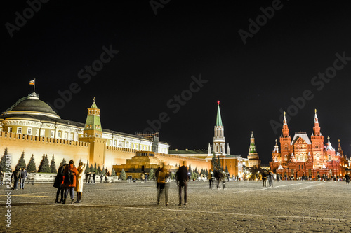 Keuken foto achterwand Historisch geb. Moscow, Russia - October, , 2018: Red Square in Moscow at night