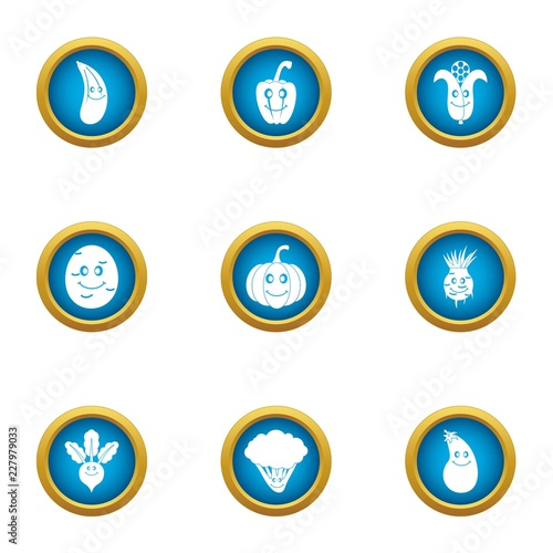 Fotografía  Garnish icons set