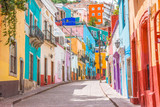 Fototapeta Uliczki - Colorful alleys and streets in Guanajuato city, Mexico