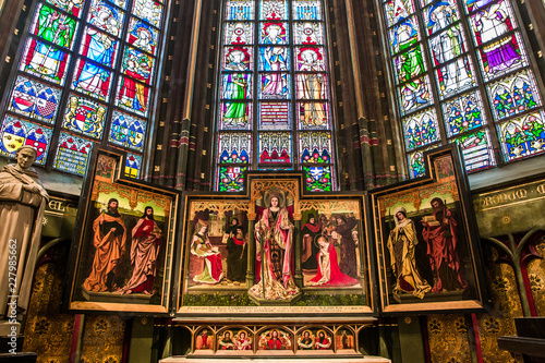 Photo sur Toile Antwerp Notre dame d'Anvers cathedral, Anvers, Belgium