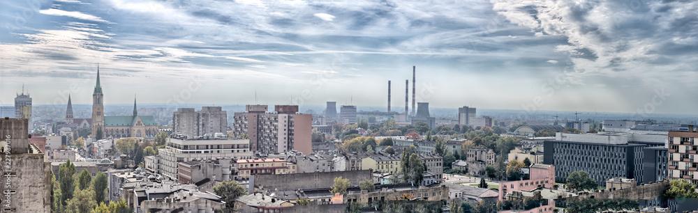 Fototapeta Panorama miasta - Katedra - Łódź - Polska