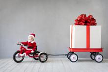 Baby Boy Having Fun On Christmas Time