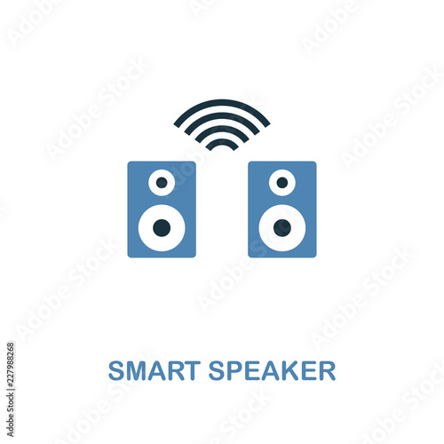 Fototapety, obrazy: Smart Speaker icon in two colors design. Premium style from smart devices icon collection. UI. Illustration of smart speaker icon. For web design, apps, software and printing.