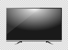 Black LED Tv Television Screen...
