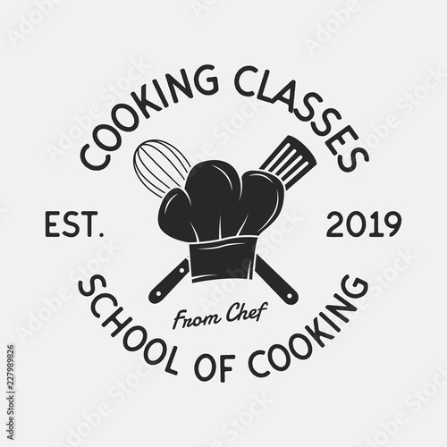 Cooking Classes vintage logo Poster Mural XXL