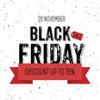 Black Friday sale banner with inscription scratched design template background with rays from the center, vector illustration eps 10